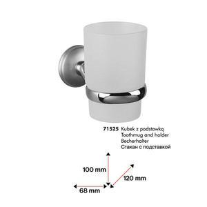 71525 Dakota szklanka z podstawką (wkład szklany) chrom/satyna_1