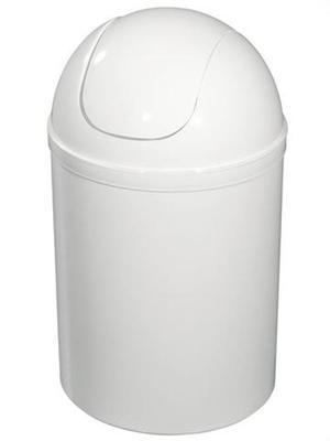 90302 Kosz na śmieci 5 l. plastikowy biały