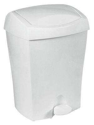 93902 Kosz na śmieci 8 l. plastikowy biały