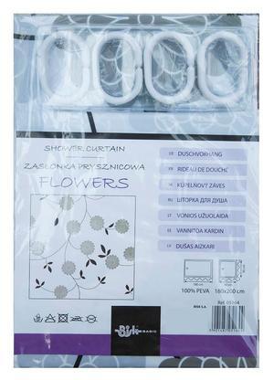 05164 Zasłonka prysznicowa FLOWERS _1