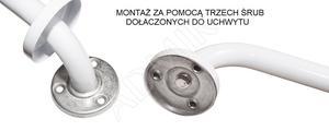 04812 UCHWYT NAD WANNĘ 610 mm BIAŁY _1
