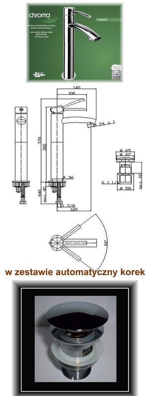 00348 CHROMA BATERIA UMYWALKOWA WYSOKA CHROM _1