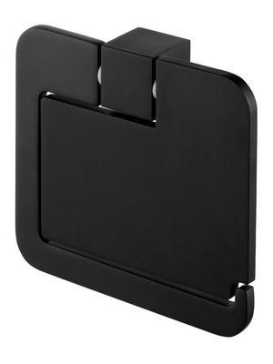 02961 Futura black uchwyt WC z klapką