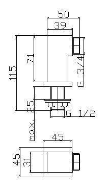 00272 ARKTIC 2 KOLANKA KWADRAT  DO BATERII WANNOWEJ CHROM _1