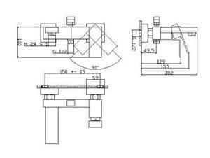 00270 ARKTIC BATERIA WANNOWO-PRYSZNICOWA ASYMETRYCZNA CHROM_1